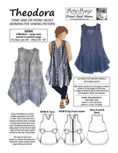 Theodora Tunic and Jacket, PDF Pattern, Large sizes