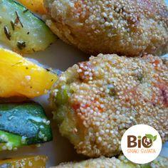 Wegańskie paluszki warzywne z groszkiem i marchewką