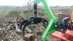 timber log grapple forestry skidder for compact tractor cat 1 or 2 includes vat Compact Tractor Attachments, Homemade Tractor, Timber Logs, Tractor Implements, Logging Equipment, Compact Tractors, Car Trailer, Milling, Outdoor Power Equipment
