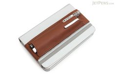Quiver Double Pen Holder for A6 Pocket Notebooks - Brown - QUIVER RPH-2-102-BRN