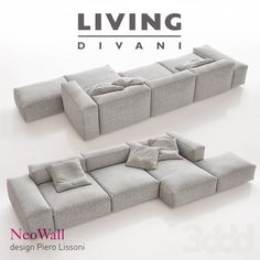 3d модели: Диваны - Living Divani - NeoWall Sofa Composition I