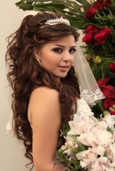 Pics For > Unique Quinceanera Hairstyles