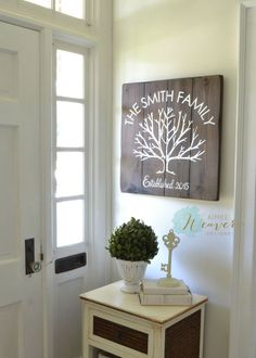 Family tree sign by Aimee Weaver Designs
