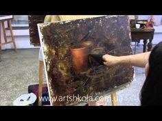 Мастер класс живописи Елены Ильичевой - Чашечка шоколада - YouTube