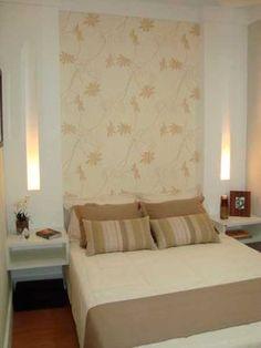 CasaPRO: 55 ideias de cabeceira para quartos de casal - Casa Master Bedroom Interior, Home Bedroom, Double Room, Suites, Luxury Apartments, Sweet Home, Creative, Room Decor, House Design