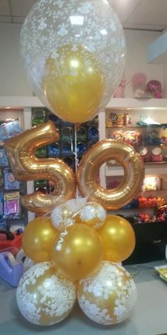 Make for a table centerpiece Balloon Table Centerpieces, Candy Table Decorations, Balloon Decorations, Birthday Party Decorations, 50th Birthday Balloons, 50th Birthday Gifts, Birthday Parties, Anniversary Party Favors, 50th Anniversary Cakes
