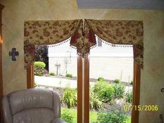 M'Fay Patterns- Welcome Drapery, Valance Curtains, Corner Window Treatments, Window Swags, Home Projects, Windows, House, Patterns, Home Decor