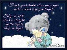 Tatty Teddy, Teddy Bear, Hit Home, Close Your Eyes, Touching You, Eye Make, Make A Wish, Good Night, Creative Design