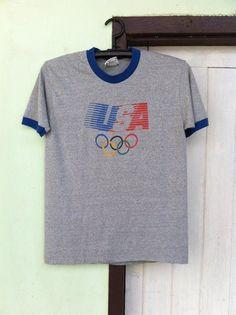 Vtg Levi's Olympic T-shirt Sz.M