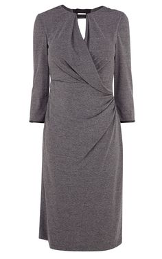 Draped Jersey Dress  Draped jersey dress with faux leather neckline detail DV018  €130.00Was €199.00 - See more at: http://www.karenmillen.com/draped-jersey-dress/sale/karenmillen/fcp-product/103DV01832#sthash.104x7Pnx.dpuf