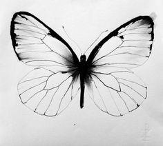 Butterfly - 25 x 25 cm. An original illustration by artist Thomas Dausell… - Butterfly – 25 x 25 cm. An original illustration by artist Thomas Dausell… The Effective Pi - Arm Tattoo, Body Art Tattoos, New Tattoos, Small Tattoos, Butterfly Drawing, Butterfly Watercolor, Watercolor Tattoo, Vintage Butterfly Tattoo, White Butterfly Tattoo