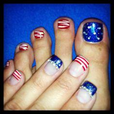 4th of July nail art!