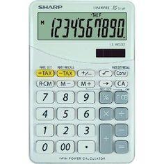 Sharp Elsi Mate EL-M332B-WH asztali számológép 10 számjegyes - Fehér - Számológépek