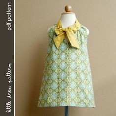 Sara Dress - PDF Pattern - Size 12 months to 8 years old and tutorial.