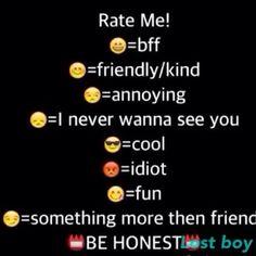 Be Honest Jada Peterson Rate Me