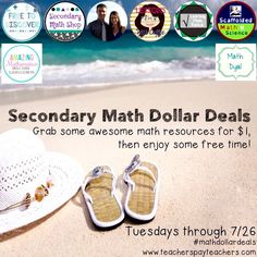 $1 Math resources Tuesday July 26! This is our last #mathdollardeals this summer so it's a great time to stock up on fun Math activities!