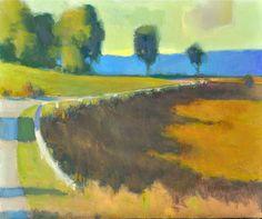 """Late Afternoon,<br /> the Pyrénées - Oil on canvas, 20"""" x 24"""""""