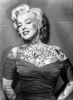 Marilyn Monroe w/ tattoo