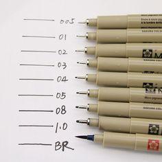ファンタスティックスケッチライナー/ブラシ0.05ミリメートル-1.0ミリメートル/br防水まで描画ペンデザイン/コミック絵画用品