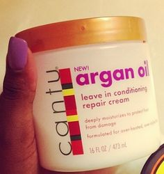 CANTU ARGAN OIL LEAVE IN CONDITIONER? SINCE I'M A PRODUCT JUNKIE, I MUST TRY IT! I'VE ONLY SEEN SHEA BUTTER.