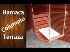 ¿Cómo hacer una hamaca o columpio de madera para la terraza? Fácil | #RecicladoChallenge - YouTube