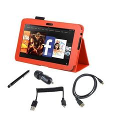 EEEKit Starter Kit for Kindle Fire HD 8.9 Accessory Bundle, Stand Case Cover Orange + Stylus Pen + Dual USB Car Charger + Micro USB Cable + Micro HDMI Cable(1.8m) by EEEKit. $23.51. Buy as a kit and save! Have bought a  Kindle Fire HD 8.9 inch, now what? This affordable package is a quick and easy way to get started, with everything you need to make the most of your Kindle Fire HD 8.9 inch in the cockpit or at home. Standing PU Case can make your reading or typing ve...