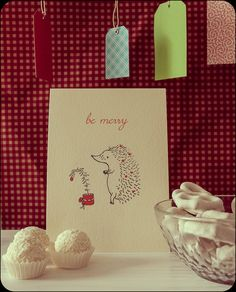Hedgehog Xmas Card