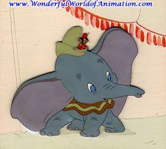 Disney Studios courvoisier cel Animation Art courvoisier cel of Dumbo From Disney Studios