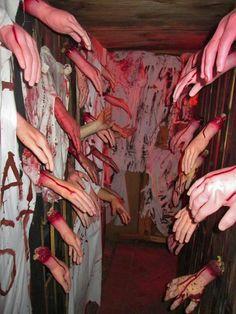 hallway of hands
