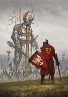 my new painting commemorating the Battle of Grunwald, where the combined forces of Polish and Lithuanian knights, crushed the power of the Teutonic Order. It was also the largest battle of the Middle Ages.