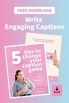 Captions -> ACTION! Learn how to kickstart that action with engaging captions! Selling On Instagram, Call To Action, Instant Access, Free Tips, Start Writing, Booklet, You Changed, Captions, Instagram Story