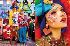 Decora-Inspired Editorials - The Harper's Bazaar Indonesia 'Harajuku-ers' Shoot is Vibrantly Funky (GALLERY) Harajuku Girls, Harajuku Fashion, Ethereal Makeup, Beauty Around The World, Cyberpunk Fashion, Glamour Shots, Cute Beauty, Pop Fashion, Editorial Fashion