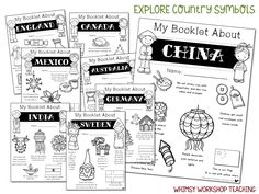 Explore Christmas Around the World with 8 simple crafts and over 100 pages of literacy printables to learn about 8 countries