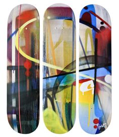 amazing - someday i hope to have a skateboard deck art collection