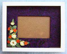 diy... handmade paper photo frame