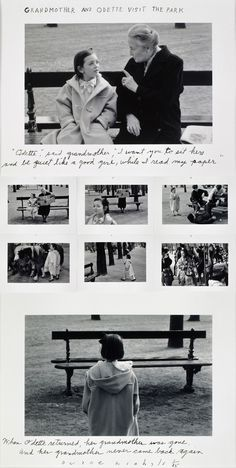 Duane Michals (b.1932) - 1992: Grandmother and Odette visit the park