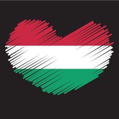Hungarian flag patriotic symbol
