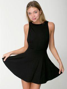 American Apparel - Ponte Sleeveless Skater Dress