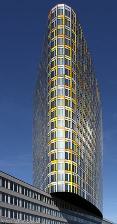 ADAC Headquarters, Munich, Germany by Sauerbruch Hutton Architects :: 23 floors, height 88m