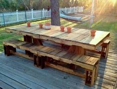 Pallet table outdoor