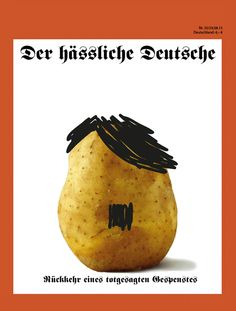 magazine cover. Topic: The ugly german (Magazine against racism in germany)