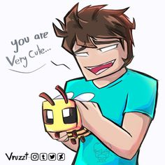 Beees :^ by Vruzzt on DeviantArt Minecraft Ships, Minecraft Comics, Minecraft Banners, Minecraft Fan Art, Minecraft Funny, Minecraft Designs, Minecraft Creations, Minecraft Posters, Minecraft Garden