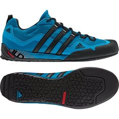 Adidas Men's Terrex Swift Solo Approach Shoes - Tribe Blue/ Black/ Dark Solar Blue 7.5