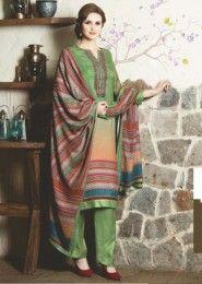 Green Regular Wear Stylish Salwar Suits