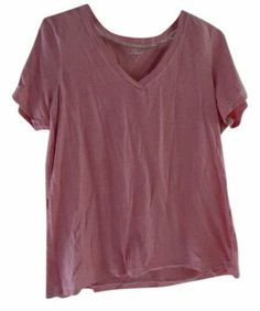 L.L. Bean Pink Heathered T Shirt Rose $15