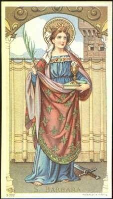 Santos, Beatos, Veneráveis e Servos de Deus: SANTA BÁRBARA, Virgem e Mártir.