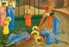 Fra Angelico, Martyrdom of Saints Cosmas and Damian, 1438-40. Documenta: Venda y ojos cubiertos