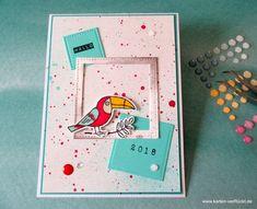 Grußgezwitscher in das Neue Jahr – ein Blog Hop mit Kakadus und anderen Vögeln – Karten VerRückt