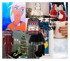 """""""Christmas with Kida"""" by musicfreakofnature ❤ liked on Polyvore featuring Improvements, Chicwish, AX Paris, Chicnova Fashion and Nearly Natural"""