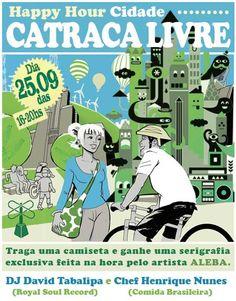 """Neste sábado, dia 25 de setembro, das 16h às 20h, tem Happy Hour Cidade Catraca Livre. Aproveitando ainda mais a semana do Dia Mundial Sem Carro, o evento vai ser em clima de liberdade, ou seja, uma """"Cidade Catraca Livre"""" em vários aspectos. O som fica por conta do DJ David Tabalipa e a gastrônomia...<br /><a class=""""more-link"""" href=""""https://catracalivre.com.br/geral/agenda/barato/cidade-catraca-livre/"""">Continue lendo »</a>"""